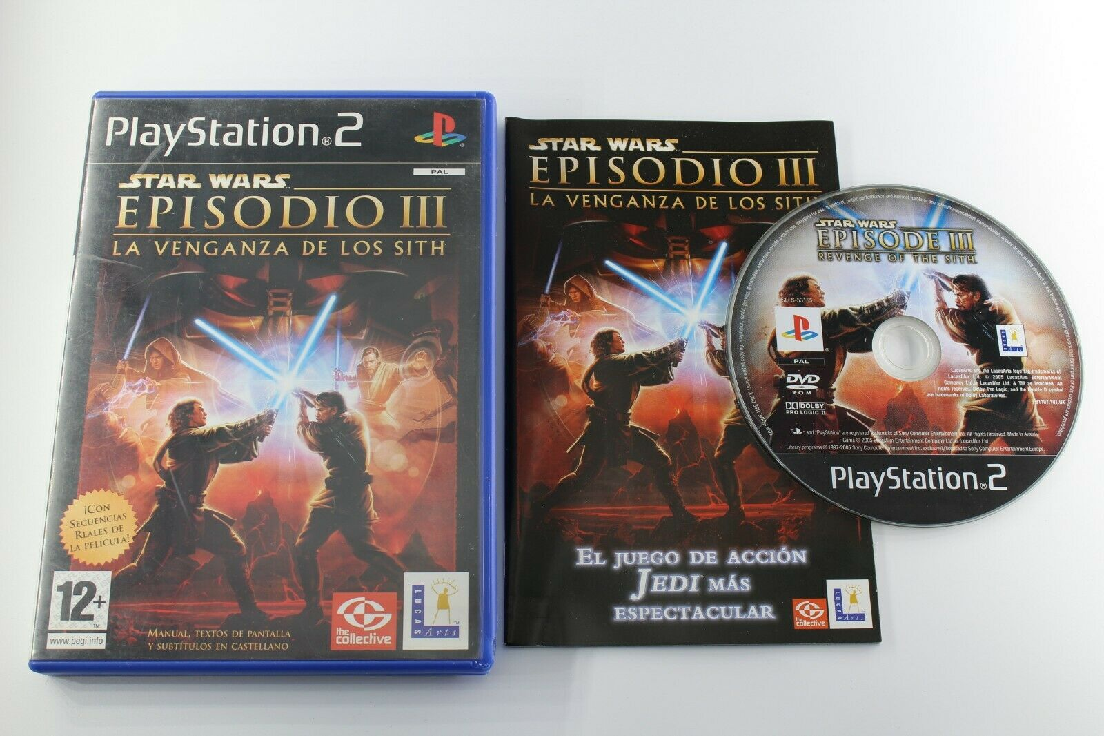 PLAY STATION 2 PS2 STAR WARS EPISODIO III LA - pas cher StarWars