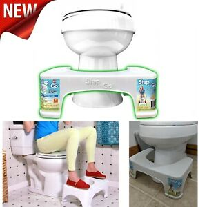 STEP AND GO Toilet Stool Provide Proper Squatting Posture-Help Relieve Straining