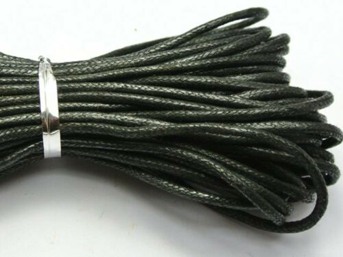 30 M Black Waxed Cotton Beading Cord Thread Line bijoux 2 mm String