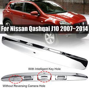 Cromo-Baule-Portellone-Maniglia-Per-Nissan-Qashqai-J10-07-14-w-IKEY-Hole-Nuovo