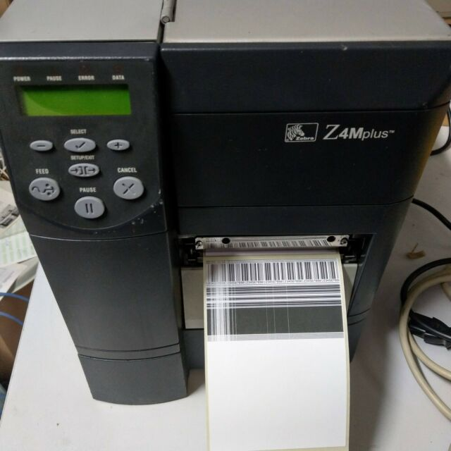 Zebra Z4M+ Z4Mplus Z4M Étiqueter Z4M00-200E-0000 Ser Parallèle Ligne Erreur