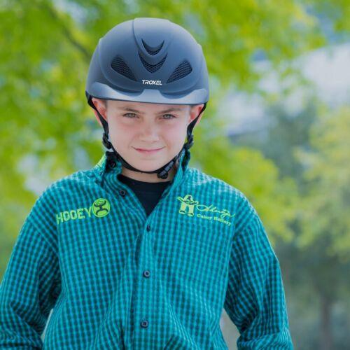 Troxel Liberty Noir Western Sécurité Équitation Casque Profil Bas Cheval Equine