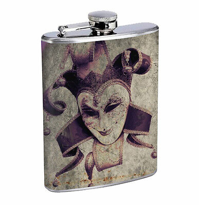 Flask Gay Pride 01R 8oz Stainless Steel Hip Drinking Whiskey