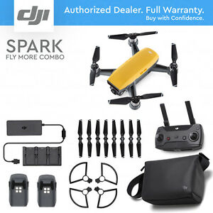 DJI-SPARK-FLY-MORE-COMBO-Sunrise-Yellow-12MP-Camera-1080p-Video-Active-Track