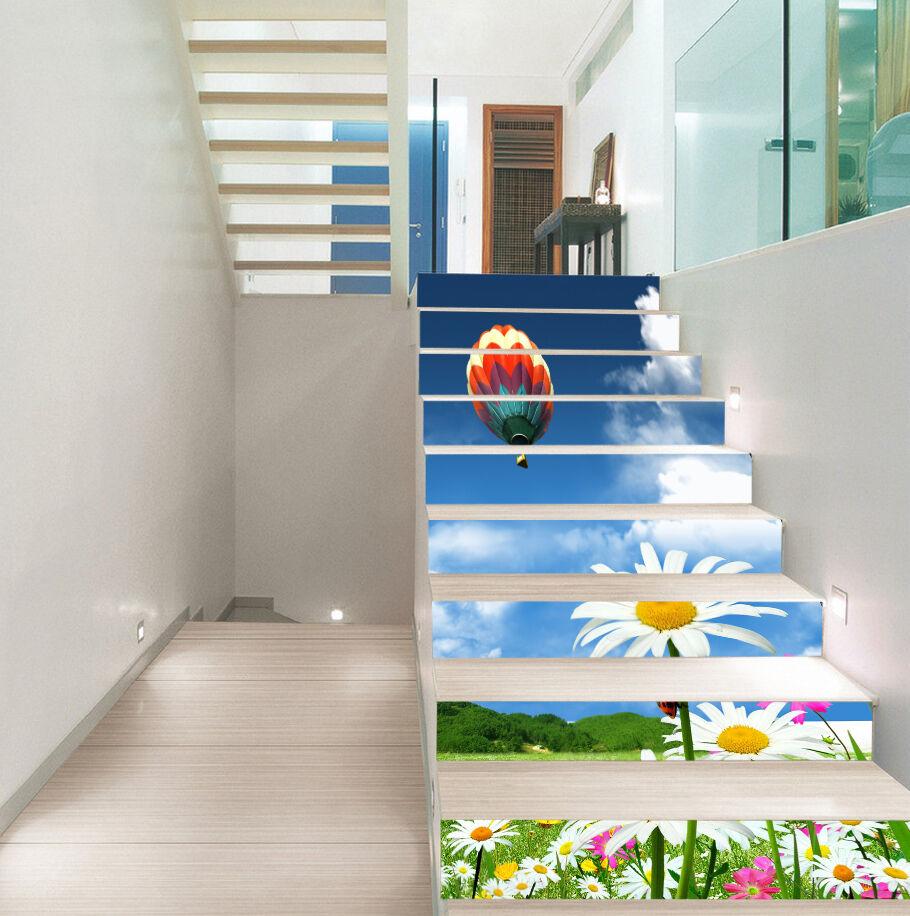 3D Ballon blueme 465 Stair Risers Dekoration Fototapete Vinyl Aufkleber Tapete DE