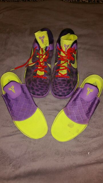 quality design b1d35 48933 Nike Zoom Kobe VII 7 Supreme cheetah Christmas Violet volt ink red size 15
