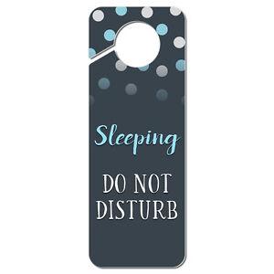 sleeping do not disturb plastic door knob hanger sign ebay