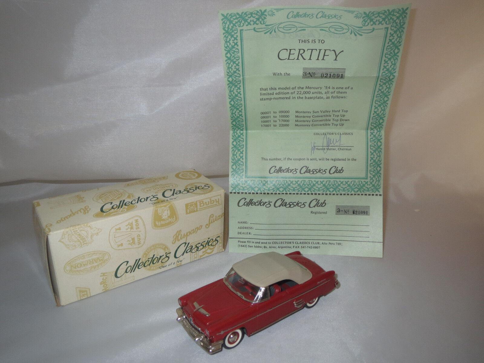 Collector 's Classics Mercury Monterey  1954  (rojo-metalizado gris-marrón) 1 43 OVP