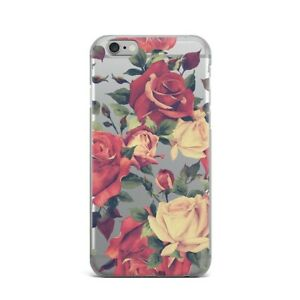 Retro-Roses-iPhone-4s-5s-SE-5c-Silicone-Snap-Cover-Floral-New-iPhone-XS-Max-XR-X