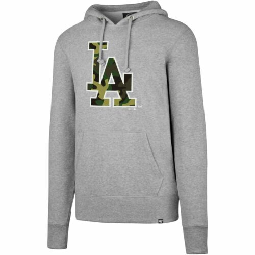 47 Brand CAMOFILL Hoody MLB Los Angeles Dodgers grau