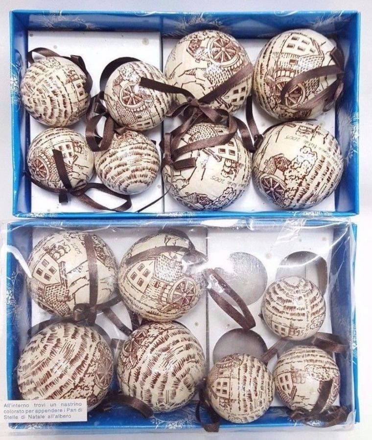 15 palle albero di natale del mulino bianco del 2005 - rare vintage