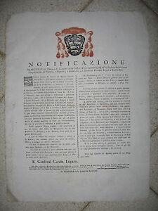U312-STATO-PONTIFICIO-FERRARA-CARD-CARAFA-SULLA-NAVIGAZIONE-1786
