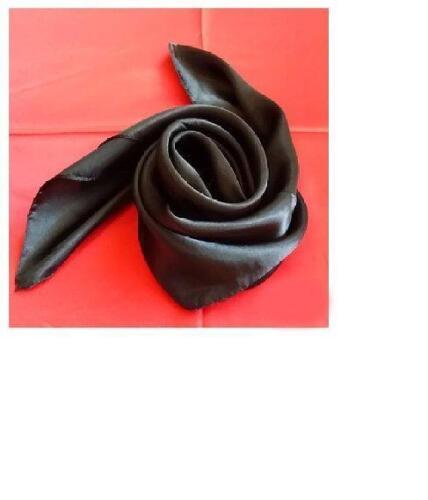 New Womens ladies plain Silk Satin Style head neck Scarf Square pure shiny