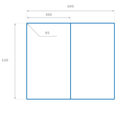FORNELLO-Mascherina vetro Ceranfeld-Copertura Decorazione pietre foglie 2x30x52 cm