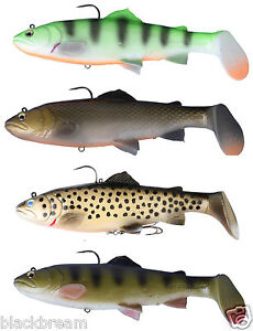 savage gear 3d trout rattle shad lure predator fishing pike zander, Fly Fishing Bait