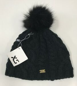c5ea44b820825 XS Pom Knitted black winter hat Women s One size acrylic NEW with ...