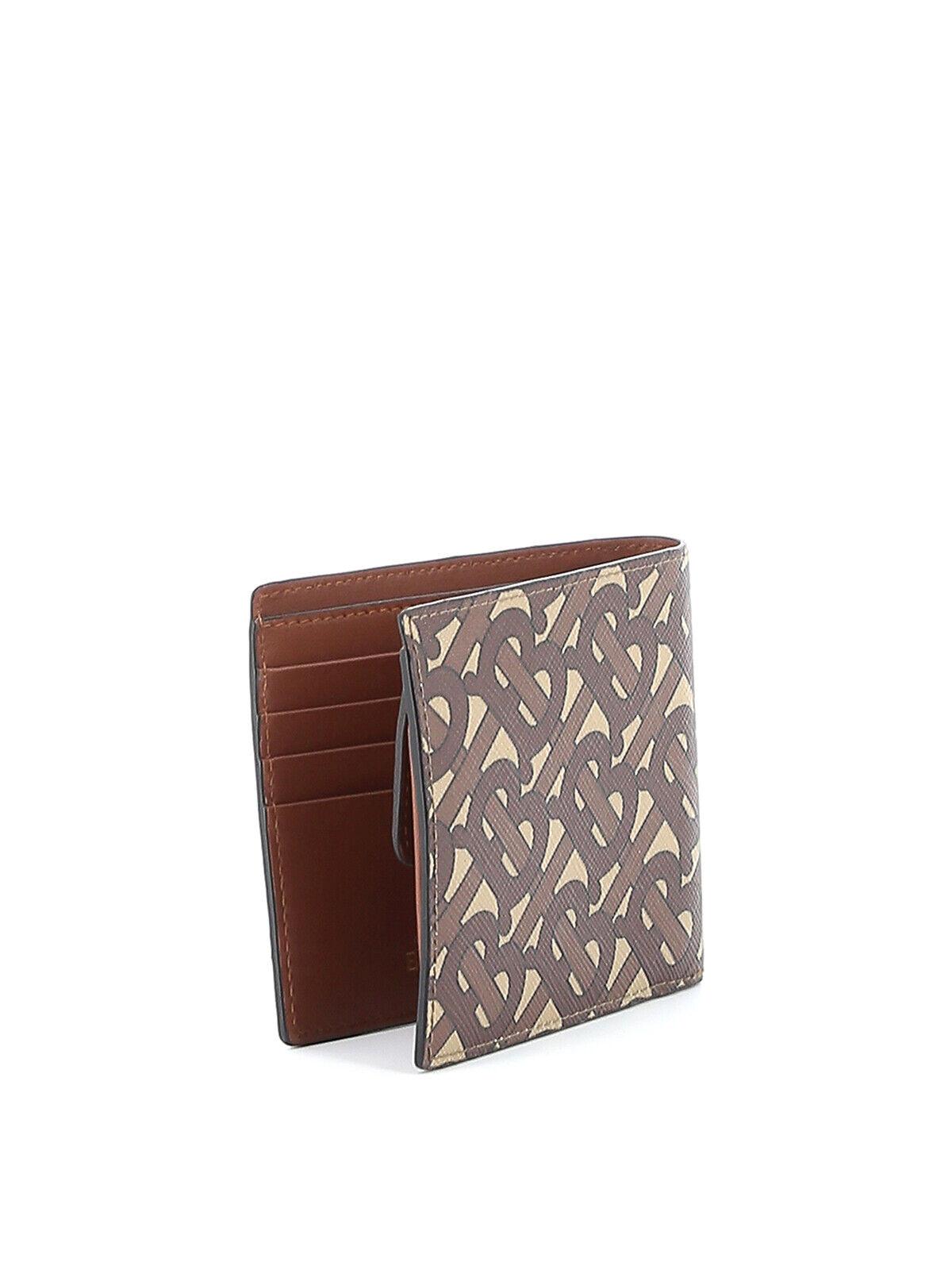 Burberry Wallet Cotton CC BILL COIN TB Man Brown 8022913 Sz. U MAKE OFFER