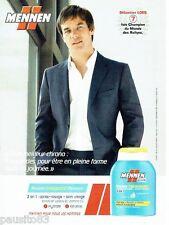 PUBLICITE ADVERTISING 116  2011  Mennen  soins homme & Sébastien Loeb