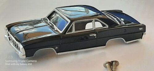 NOS Autoworld Black 66 Chevy Nova HO Slot Car Body Fit Aurora Dash Tjet Chassis