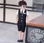 4pcs Kids Baby Boys Outfits Vest+Shorts+Blouse+Tie Gentleman Party Suits Blazer
