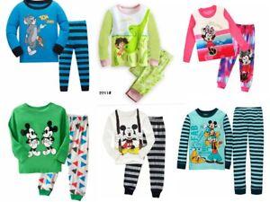 b7f768fbd Girls boys clothes World famous cartoon pajamas set 80-130CM Long ...
