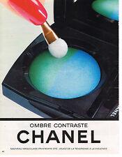 PUBLICITE ADVERTISING 035  1986  CHANEL  cosmétiques  maquillage OMBRE CONTRASTE