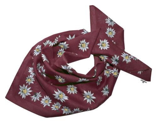 Trachtentuch costumes foulard foulard nickituch Nicki Edelweiss rouge bordeaux