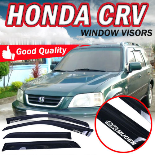 Fits 98-01 Honda CRV CR-V 4Dr SUV Window Visors Guard Shade Smoke Slim W// Mugen