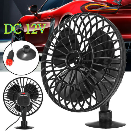 6Inch 12V Portable Car Oscillating Fan Vehicle Cooling Fans With Suction Cup