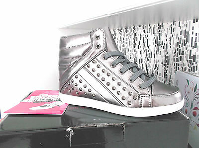 """simply Be"" Sz 7 Ladies Fashion Boots In Pewter With Studded Sides B.n.w.t. Per Prevenire E Curare Le Malattie"
