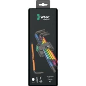 Wera-Tools-Germany-Mixed-Colour-Hex-Allen-Key-Set-Extra-Long-1-5mm-10mm-Boxed