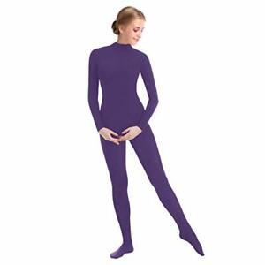 Women-Full-Bodysuit-Jumpsuit-Lycra-Spandex-Zentai-Unitard-Leotard-Costume-Purple