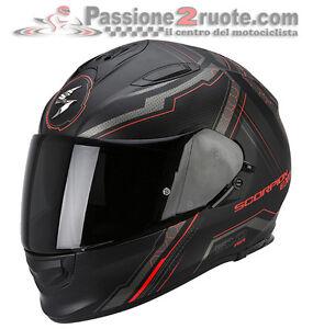 Casco-Scorpion-Exo-510-Air-Sync-nero-opaco-rosso-integrale-fullface-helmet