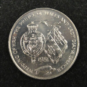Commemorative Coin 1981 for Wedding of Prince Charles and Lady Diana