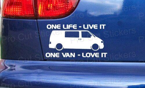 Transporteur Cars Van One Life Live It Personnalisé Autocollants Decals T4 T5 T6 ref:1