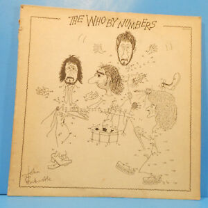 THE WHO BY NUMBERS VINYL LP 1975 ORIGINAL PRESS GREAT CONDITION! VG+/VG!!A