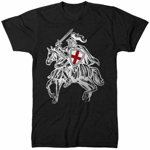 St Georges Day England Knight on a Horse T Shirt English Knights Shield Saints