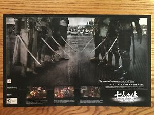 Seven-Samurai-20XX-PS2-Playstation-2-2004-Vintage-Video-Game-Poster-Ad-Print