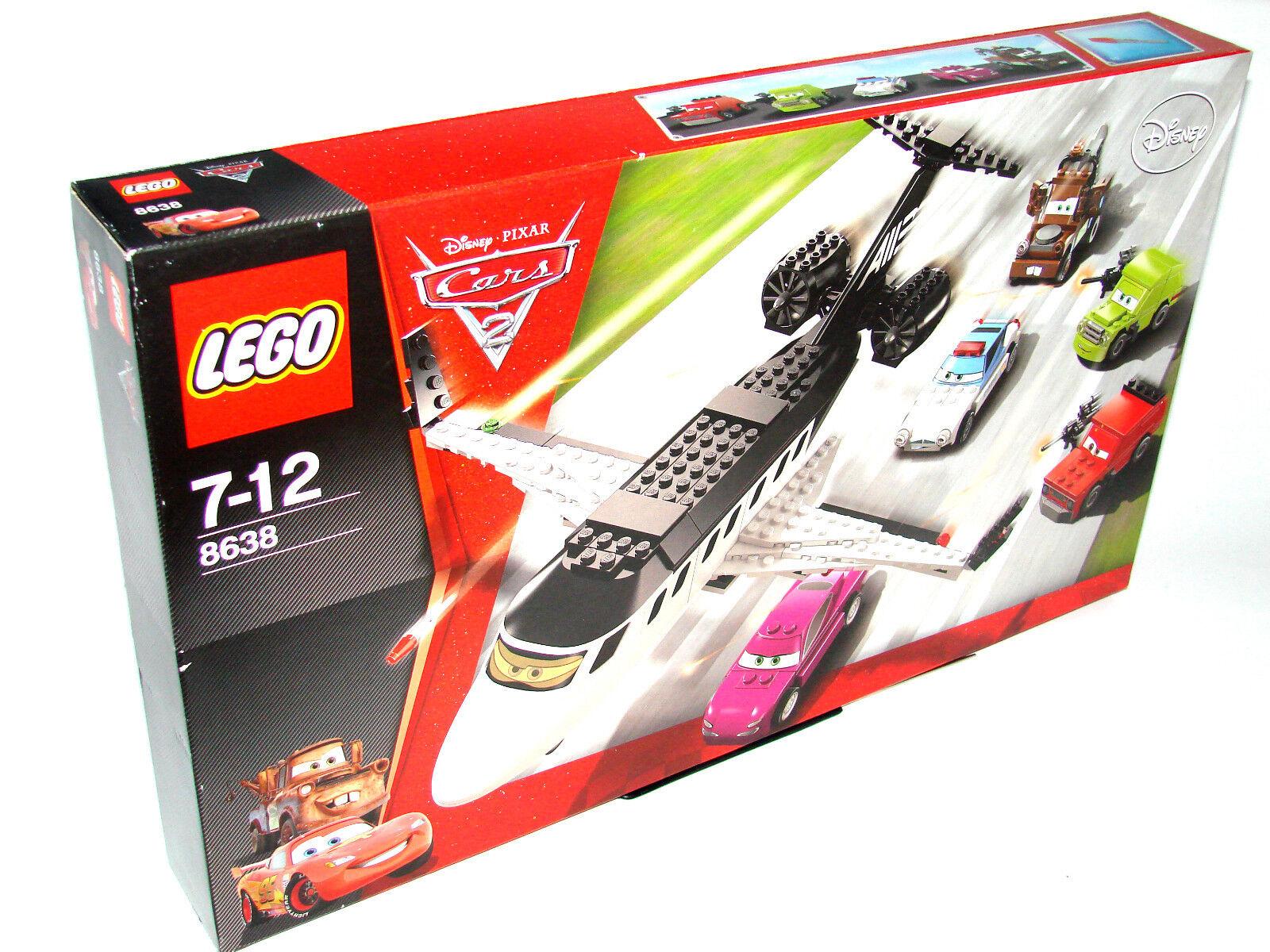 LEGO ® CARS 8638 Course à L'AGENT-Jet Nouveau neuf dans sa boîte Spy Jet ESCAPE NEW En parfait état, dans sa boîte scellée Boîte d'origine jamais ouverte