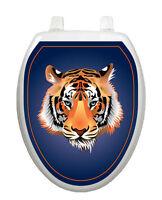 Tiger Orange Toilet Tattoos® Bathroom Seat Lid Decoration Vinyl Reusable