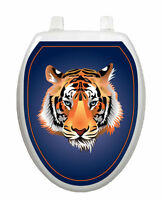 Tiger Orange Toilet Tattoos® Bathroom Seat Lid Decoration Vinyl Reusable