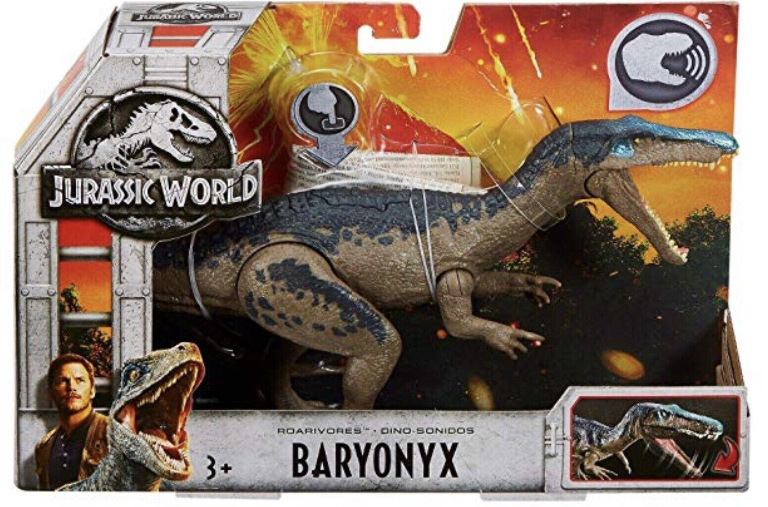 Jurassic World 2 Fallen Kingdom Kingdom Kingdom BARYONYX Roarivores Dinosaur Boy Gift bluee Shiny 8d19e3