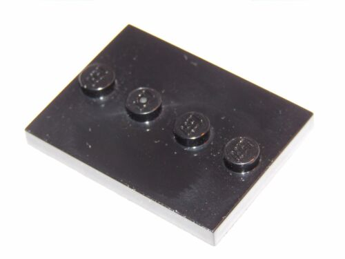 1 of 1 - Lego Single MiniFigure Black Display Stand    3x4 with 4 Studs    88646