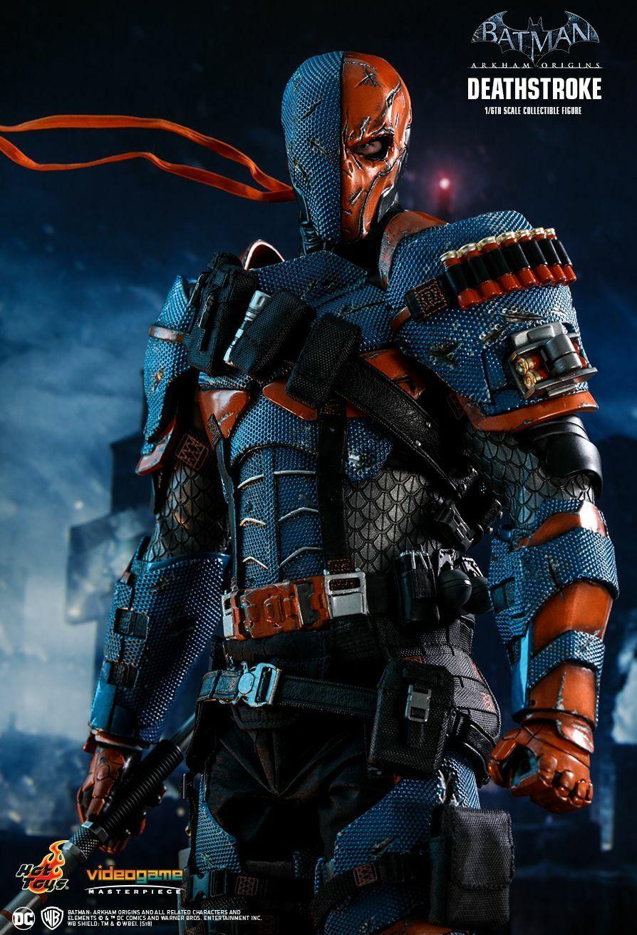 Hot Juguetes  Deathstroke (Arkham Origins) escala 1 6 Figura de Acción  VGM30