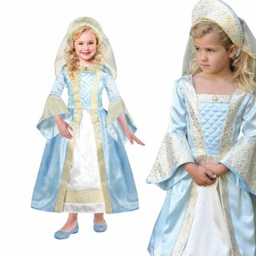Deluxe Tudor Princesse Filles Conte de fées Historique livre semaine Fancy Dress Costume