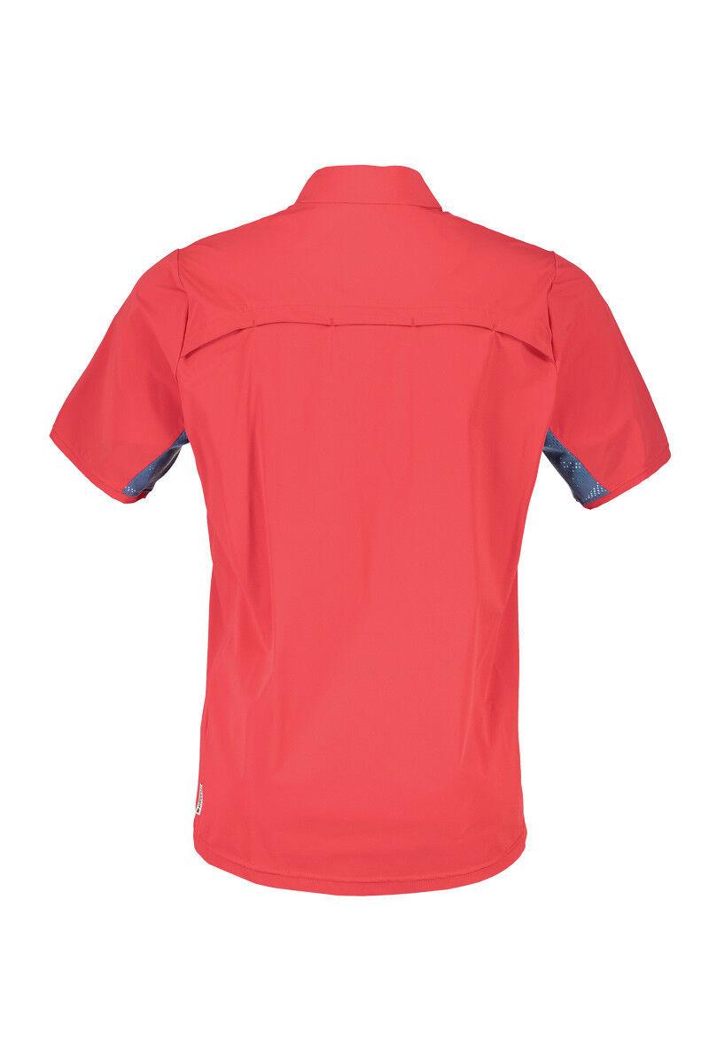 Maloja Multisportshirt Shirt PadrotM. UV-Schutz rot elastisch UV-Schutz PadrotM. 3dd929