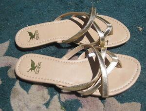 Verano W6hfqx 7 Sexy Sandalia Calce Mujer Talla En Dorado b7gvYyf6