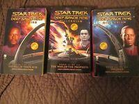 3 STAR TREK BOOKS - DEEP SPACE NINE - MILLENNIUM - ONE PRICE