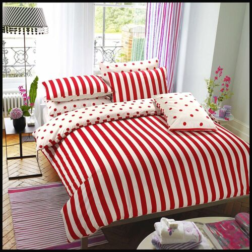New Stripe Design Duvet Quilt Cover With Pillowcase Bedding Set In All Sizes