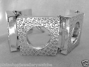 Bracelet-Unique-Statement-Thick-Square-Link-Ladies-925-Sterling-Silver-Jewellery